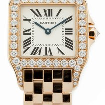Cartier Demoiselle Diamond 18KY Gold Silver Dial Unisex Watch...