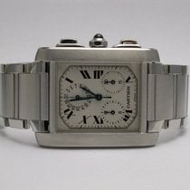 Cartier 2303 Tank Francaise Chronograph Stainless Steel...