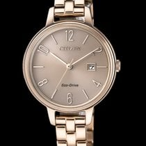 Citizen Steel 31mm Quartz EW2443-80X Citizen Lady Eco Drive Acciaio Oro Rosa new
