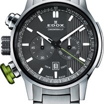 Edox Chronorally 45mm Steel Grey Dial Chronograph  10302 3MV GIN