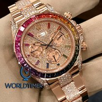 Rolex NEW 116595RBOW-0002 Daytona Rainbow Full Pave Diamond