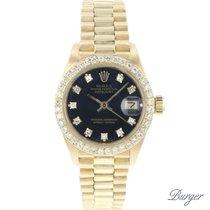 Rolex Lady-Datejust Жёлтое золото 26mm Чёрный