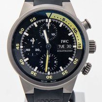 IWC Aquatimer Chronograph pre-owned 42mm Black Chronograph Date Silicon