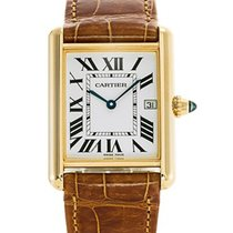 Cartier Tank Louis Cartier Yellow gold Silver Roman numerals United States of America, New York, NYC