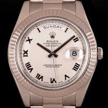 Rolex Day-Date II White gold 41mm Silver Roman numerals