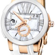 Ulysse Nardin Executive Dual Time Lady pre-owned 40mm Mother of pearl Date GMT Crocodile skin
