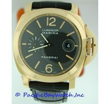 Panerai Luminor Marina Automatic Yellow gold 44mm Black United States of America, California, Newport Beach