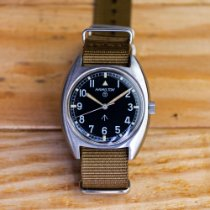 Hamilton Steel 35mm Manual winding Hamilton W10 Hacking Seconds British Navy watch pre-owned