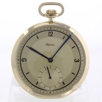 Alpina Yellow gold Manual winding Gold Arabic numerals 48mm pre-owned