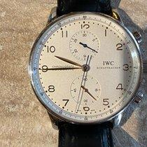 IWC Portuguese Chronograph Acier 41mm Blanc Arabes France, st gatien