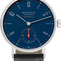 NOMOS Tangente Neomatik Stal 35mm Niebieski Arabskie
