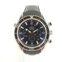 Omega Seamaster Planet Ocean Chronograph Acero 45mm Negro