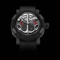 Romain Jerome Çelik 50mm Otomatik TATTOO BLACK RED RJ.T.AU.TT.002.02 yeni