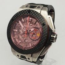 Hublot Big Bang Ferrari pre-owned 45.5mm Transparent Chronograph Rubber