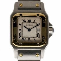 Cartier Santos Galbée pre-owned 24mm Silver Gold/Steel