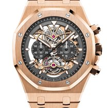 Audemars Piguet Royal Oak Tourbillon Rose gold 44mm Transparent No numerals
