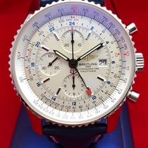 Breitling Navitimer World Steel 46mm Silver United States of America, New York, New York