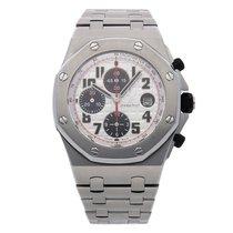 Audemars Piguet Royal Oak Offshore Chronograph Steel 42mm Silver Arabic numerals