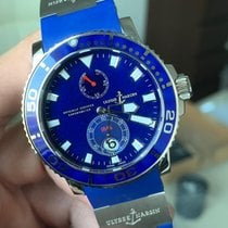 Ulysse Nardin White gold Automatic Blue No numerals 42.7mm new Maxi Marine Diver