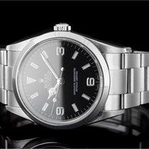 Rolex Explorer gebraucht 36mm Schwarz Stahl