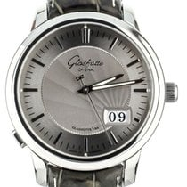 Glashütte Original Senator Panorama Date pre-owned 40mm Silver Date Crocodile skin