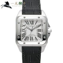 Cartier Santos 100 Stal 51.1mm Biały