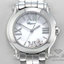Σοπάρ (Chopard) Happy Sport Medium Stahl Diamanten Brillanten...