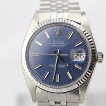 Rolex Datejust vintage rare blue dial WG Bezel rhodeniert
