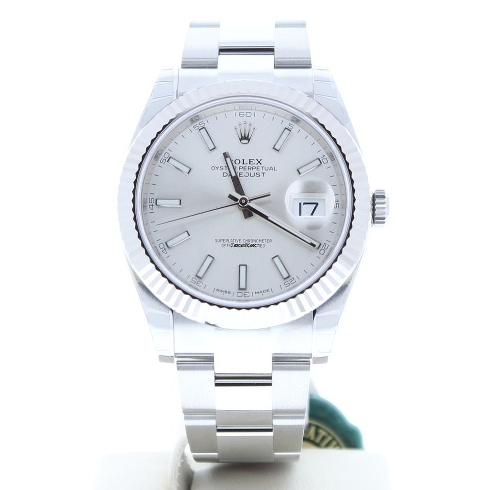92c811eaa20 Rolex Datejust Prata - Todos os preços de relógios Rolex Datejust Prata na  Chrono24