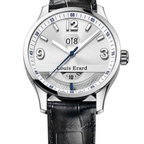 Louis Erard Steel 44mm Automatic 1931 DUAL Time new