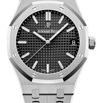 Audemars Piguet Royal Oak Steel 41mm Black No numerals