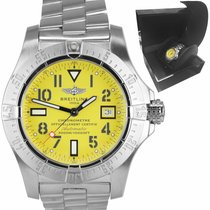 Breitling Avenger Seawolf pre-owned 45mm Yellow Date Steel