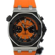 Audemars Piguet Royal Oak Offshore Diver Chronograph Stahl 42mm Orange Keine Ziffern