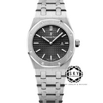Audemars Piguet Royal Oak Lady Stål 33mm Svart Inga siffror