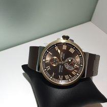 Ulysse Nardin Marine Chronometer Manufacture Gold/Steel 43mm Brown