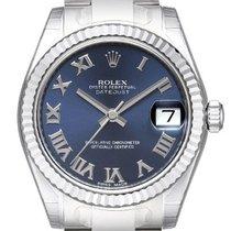 Rolex Lady-Datejust Staal 31mm Blauw Geen cijfers