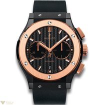 Hublot Classic Fusion Chronograph Ceramic 18k King Gold Men's...