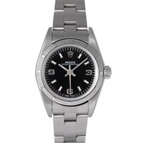 Rolex Oyster Perpetual Ladies with Black Dial, Ref: 69190