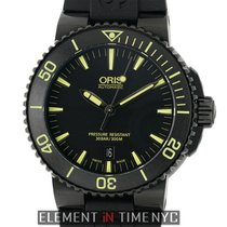 Oris Aquis Date DLC Coated Stainless Steel 43mm Black Dial