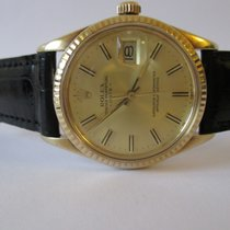 Rolex Oyster Perpetual Date, 14K massive yellow gold