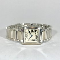 Cartier Tank Française tweedehands 20mm Witgoud