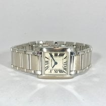 Cartier Tank Française occasion 20mm Or blanc