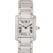 Cartier Tank Française pre-owned 20mm White White gold