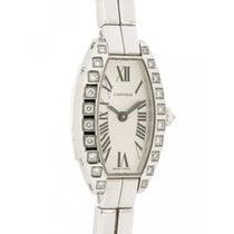 Cartier Lanières Oro blanco 16mm Blanco Romanos