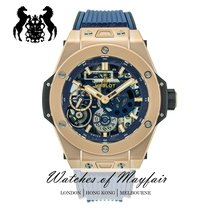Hublot Oro rosa Cuerda manual Azul 45mm nuevo Big Bang Meca-10