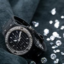 Hublot Big Bang 38 mm Stal 38mm Czarny Bez cyfr