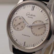 Glashütte Original Senator Zeigerdatum Stahl 40mm Weiß