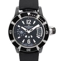 Jaeger-LeCoultre Master Compressor Diving GMT Steel 39mm Black Arabic numerals