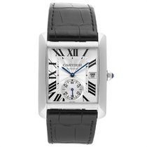 Cartier Tank MC Steel 34.3mm Silver Roman numerals