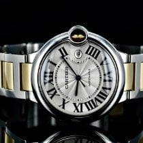 Cartier Ballon Bleu 42mm Золото/Cталь 42mm Cеребро Римские